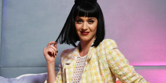 SYDNEY, AUSTRALIA - MARCH 5:  (EUROPE AND AUSTRALASIA OUT) American singer Katy Perry poses during an exclusive photo shoot at the launch of her Australian Prismatic tour at Telstra headquarters on March 5, 2014 in Sydney, Australia. (Photo by Brett Costello/Newspix/Getty Images)