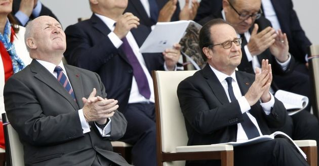 Australian Governor-General Peter Cosgrove and French President Francois Hollande at the Bastille Day...