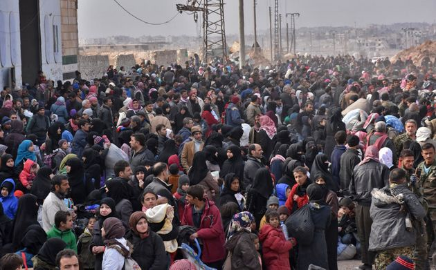 The fighting has prompted an exodus of terrified civilians, many fleeing empty-handed into remaining...