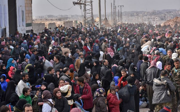The fighting has prompted an exodus of terrified civilians, many fleeing empty-handed into remaining rebel-held territory, or crossing into government-controlled western Aleppo or Kurdish districts.