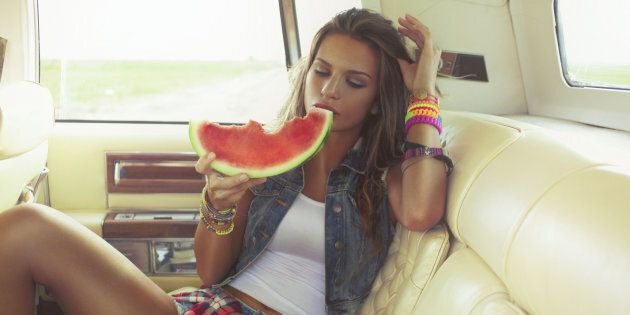 Just eat the watermelon.