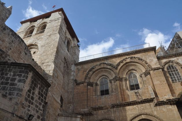 The immovable ladder has been in place at the Church of the Holy Sepulchre for at least 260