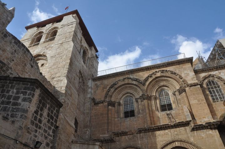 The immovable ladder has been in place at the Church of the Holy Sepulchre for at least 260 years.