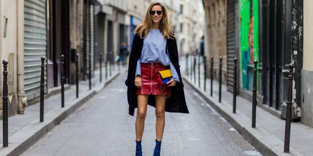 As fashion blogger and model Alexandra Lapp shows us, workwear can still be fun -- just don't show too...