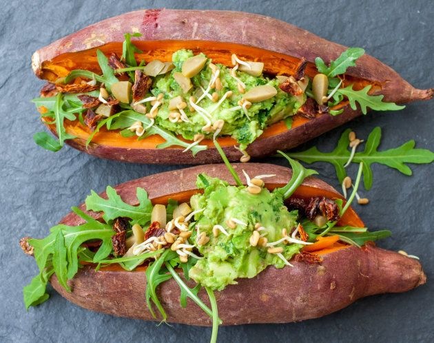 To switch things up use small sweet potatoes.