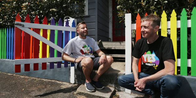 Tiernan Brady (left) reflects on the marriage equality survey