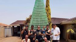 WA Man Builds Massive Christmas Tree Out Of Beer Cans, For