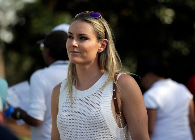 This is U.S. ski champ Lindsey Vonn, who Woods dated from about 2013 to
