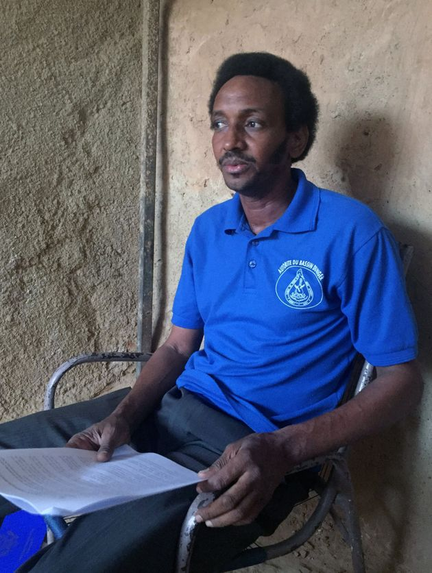 Boubacar Diallo, president of the livestock breeders association of north Tillaberi on the Mali border,...