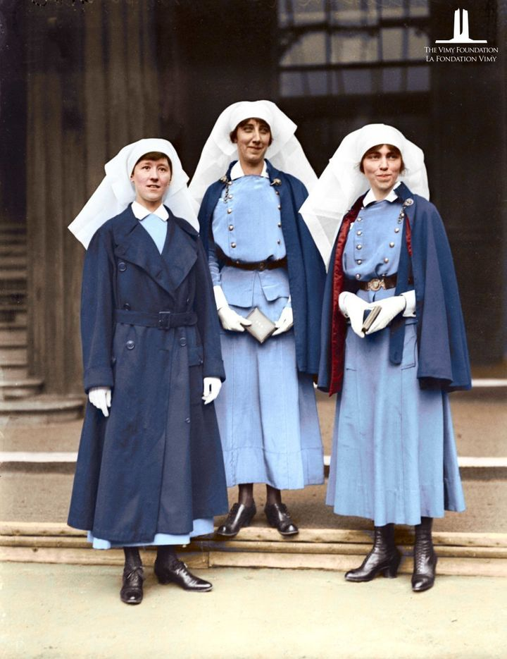 Nursing Sisters, Mowat, McNichol, and Guilbride.