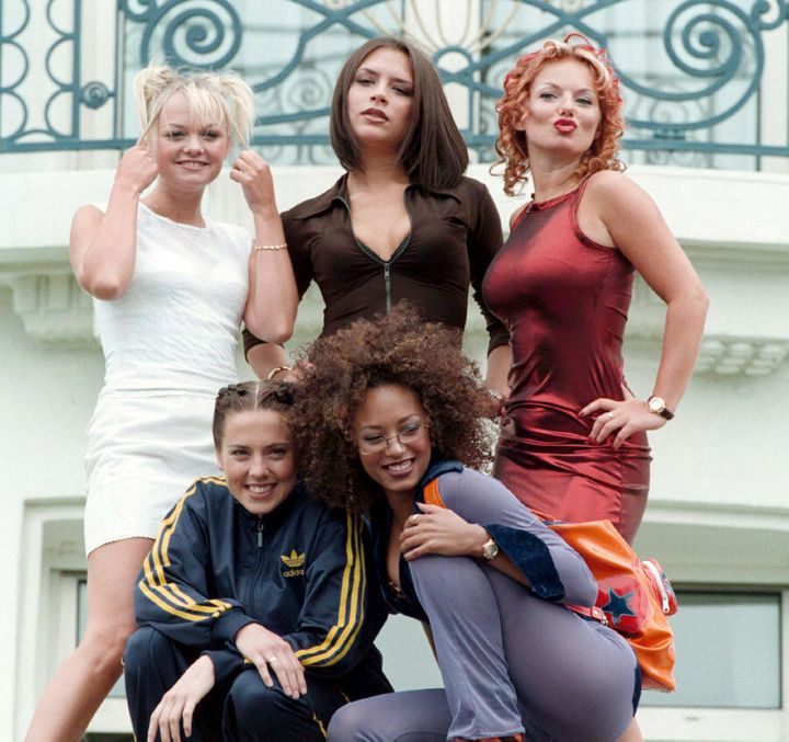 The Spice Girls promoting their honestly groundbreaking film 'Spice World' at the 50th Cannes Film Festival.