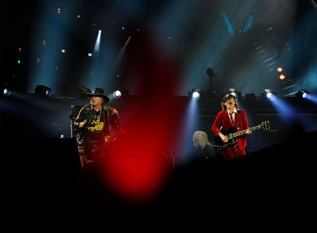 AC/DC's onstage with Axl Rose perform in Sevilla on May 10, 2016. Aussie rockers AC/DC wrote a new chapter...