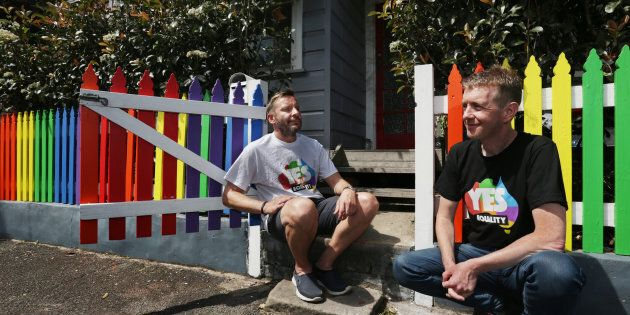 Tiernan Brady (right) reflects on the marriage equality