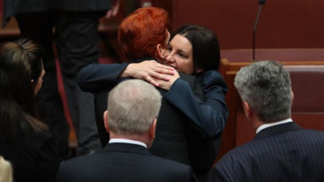 Pauline Hanson embraces Jacqui