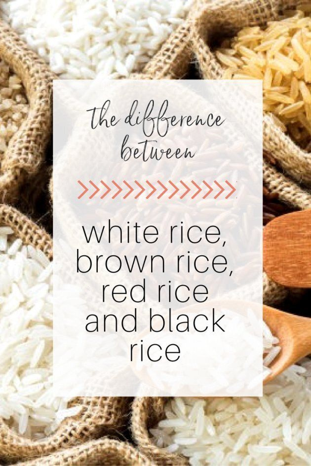 The Difference Between White, Brown And Red
