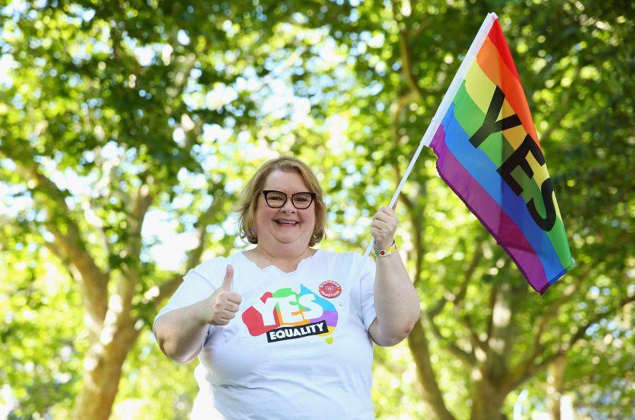 Sydney, Australia -- November 15: Magda Szubanski is certainly stoked with the YES