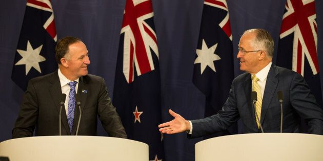 NZ PM John Key and Malcolm Turnbull joint press conference.