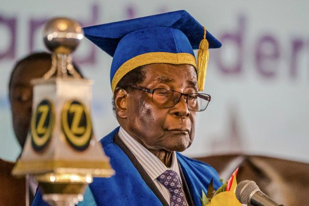 Mugabe appeared in public for the first time on Saturday since his house arrest, opening a university...