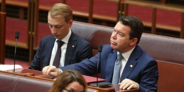 Liberal senators James Paterson and Dean Smith.