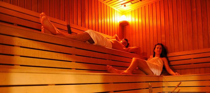 As the name suggests, infrared saunas are typically red or orange.