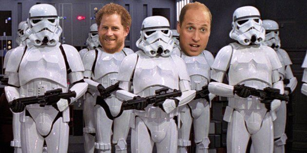 Princes Harry and William Cameo As Stormtroopers In The New 'Star Wars'