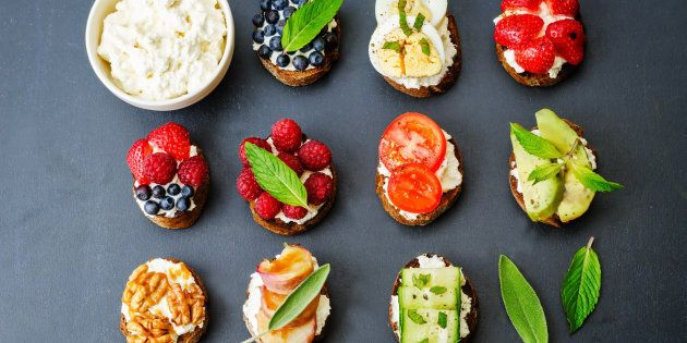 Play around with toast toppings.