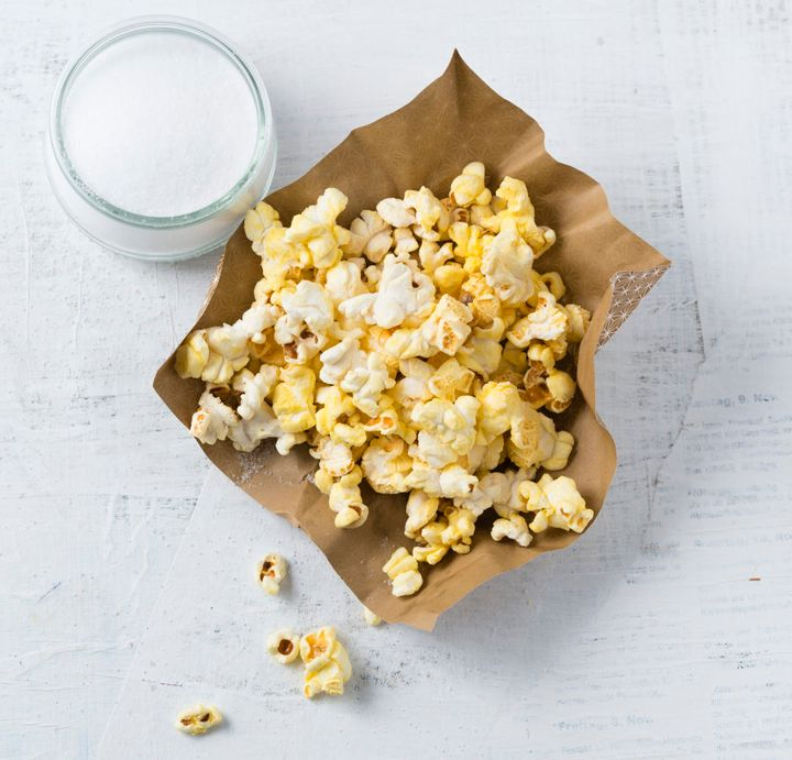 Homemade popcorn is a surprisingly low kilojoule, healthy snack option.