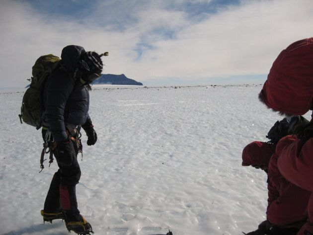 The geologists braved harsh Antarctic conditions to search for the