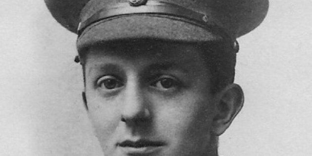 Noel W Lamidey in his Fusiliers uniform, 1914.