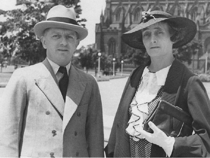 Noel W Lamidey with wife in Sydney