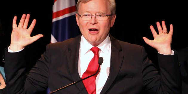 Former Australian Prime Minister Kevin Rudd says China is not rising to Trump's