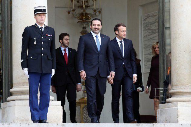Ex Lebanese PM Saad Hariri met with French President Emmanuel Macron on November
