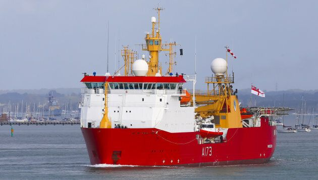 The Royal British Navy ice patrol ship HMS Protector was deployed to help in the