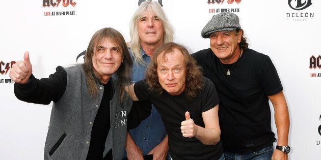 Malcolm Young, Cliff Williams, Angus Young and Brian Johnson of