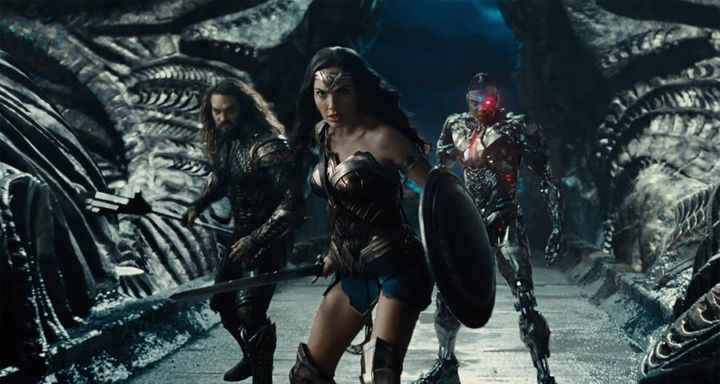 Gal Gadot reprises her role of Wonder Woman alongside Jason Momoa's Aquaman and Ray Fisher's Cyborg.