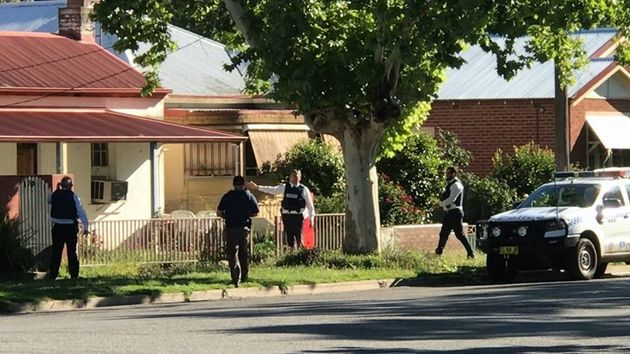 Police search a house in Gurwood Street, Wagga Wagga where a 19-year-old man was arrested on Nov 8 and...