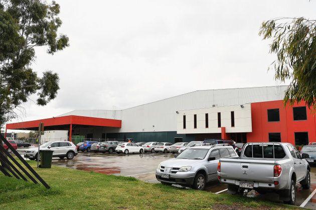 Amazon's first Australian distribution centre in Dandenong, Melbourne.
