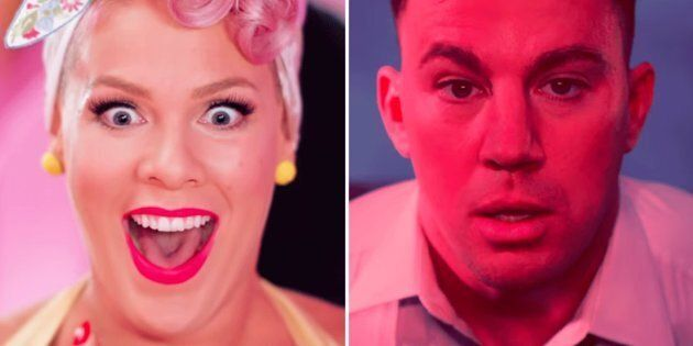 Channing Tatum Dances Alongside Pink In Her 'Beautiful Trauma'