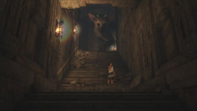 One you form a bond with Trico, he'll follow you almost