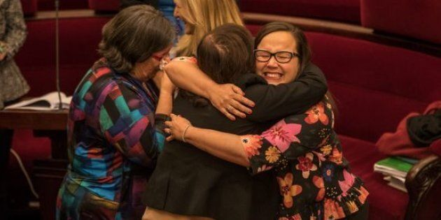 Emotional MPs celebrated as a controversial assisted dying bill was passed in Victoria's Upper House.