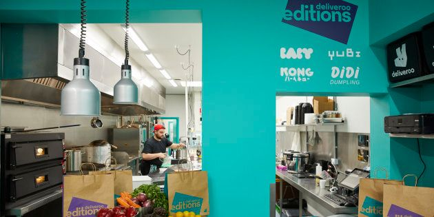 Deliveroo's new delivery-only kitchen.
