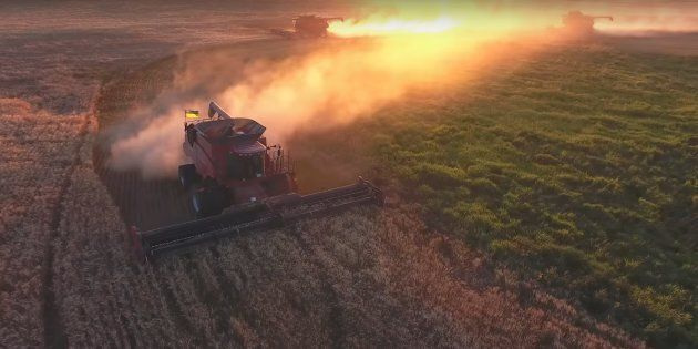 Footage captured by a drone shows some of the work done on Jason LeBlanc's Estevan, Sask. farm
