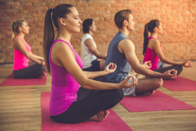 Experts recommend yoga or meditation as a way to prioritise 'me time' and looking after yourself.