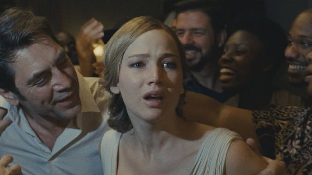 Jennifer Lawrence and Javier Bardem in Aronofsky's
