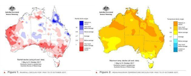 It's been a hot, dry winter across