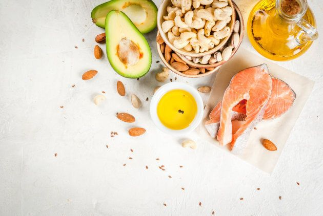 Salmon, almonds and avocado are types of unsaturated
