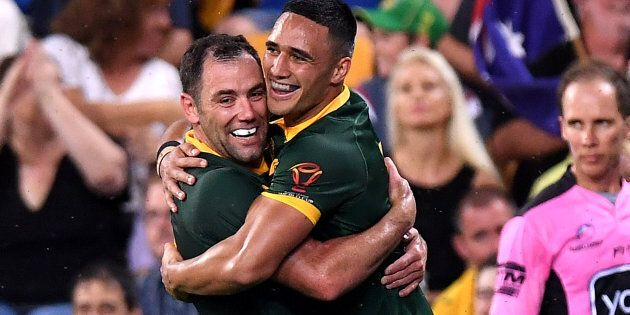 And that man, Valentine Holmes, scored six tries in the one game. SIX.