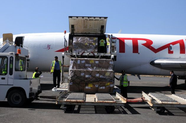 Aid arrived in Sanaa on Saturday 25th November 2017 after a three-week