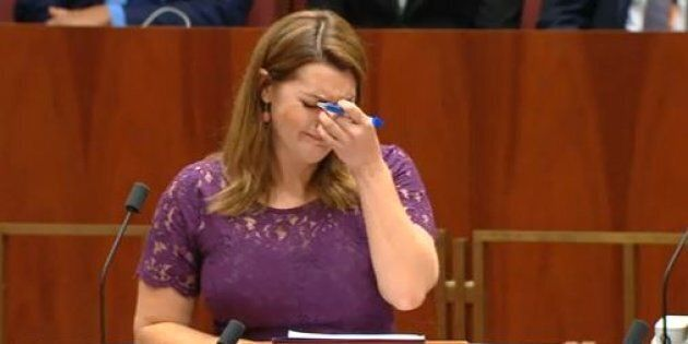 Senator Sarah Hanson-Young during her speech on marriage