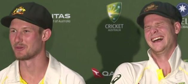 The Ashes: Watch Steve Smith Totally Lose It As Cameron Bancroft Spins Hilarious Headbutt